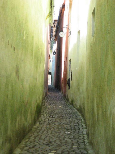 Zdjęcia: Brasov, Transylwania, najmniejsza uliczka w Europie, RUMUNIA