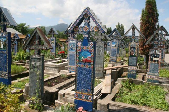 Zdjęcia: Sapinta, Bukowina, wesoły cmentarz, RUMUNIA