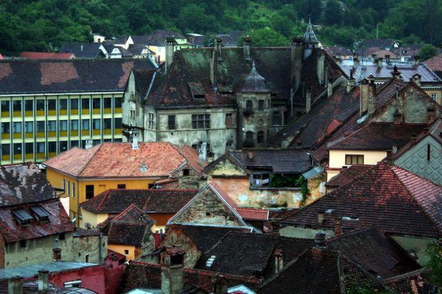 Zdjęcia: Sighisoara, Transylwania, Dachy Sighisoary, RUMUNIA