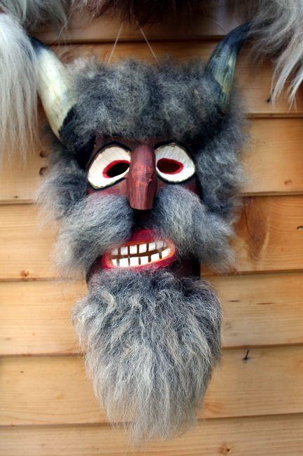 Zdjęcia: Bran, Transylwania, Maska diabła, RUMUNIA