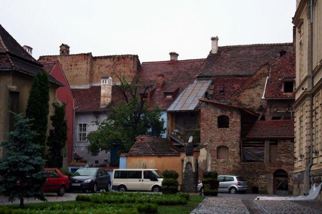 Zdjęcia: Sighisoara, Transylwania, Zabudowa miejska, RUMUNIA