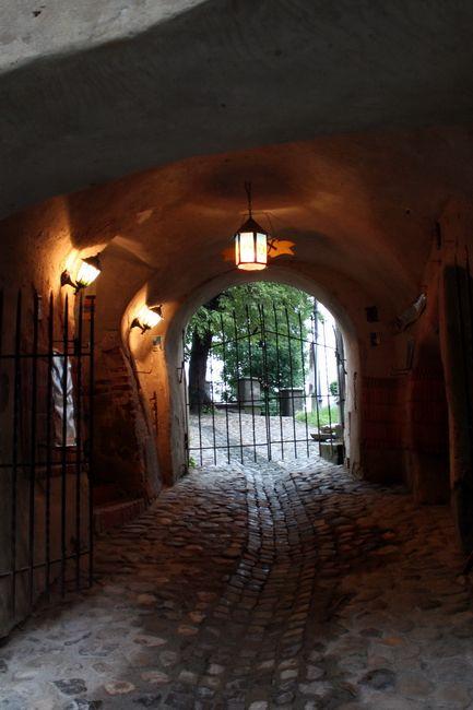 Zdjęcia: Sighisoara, Transylwania, W bramie, RUMUNIA