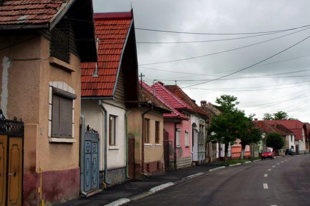 Zdjęcia: Rasnov, Szereg domków, RUMUNIA
