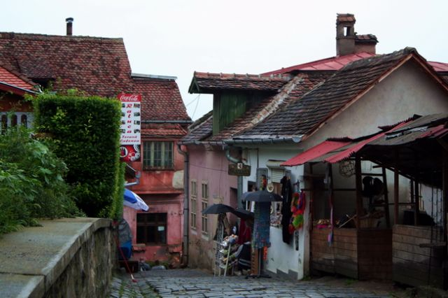 Zdjęcia: Sighisoara, Transylwania, Zabudowa Sighisoary, RUMUNIA