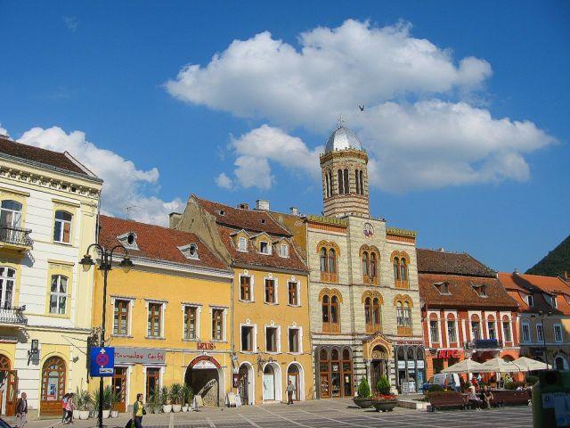 Zdjęcia: Brasov, Transylwania, Kamieniczki na Rynku starego Braszowa, RUMUNIA