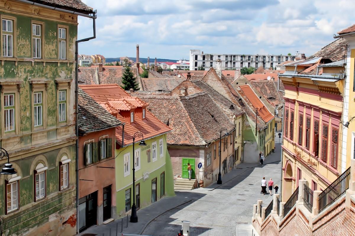 Zdjęcia: Sybin, Siedmiogród, Malownicze uliczki Starego Miasta, RUMUNIA