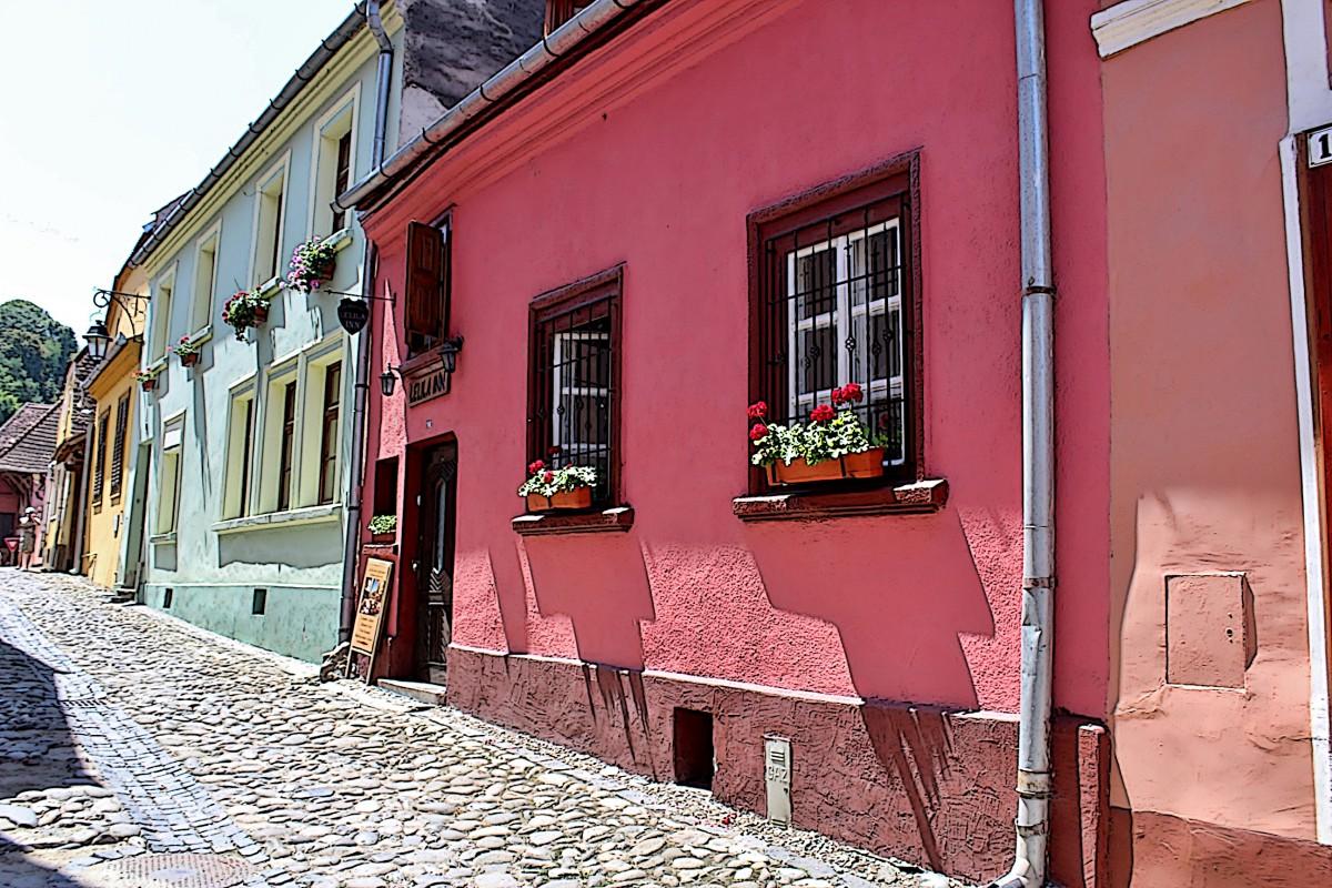 Zdjęcia: Sighișoara, Siedmiogród, Uliczka Starego Miasta, RUMUNIA