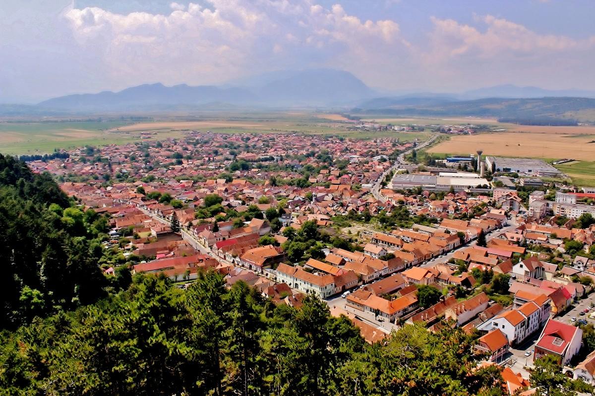 Zdjęcia: Râșnov, Siedmiogród,  Râșnov - widok z zamku, RUMUNIA