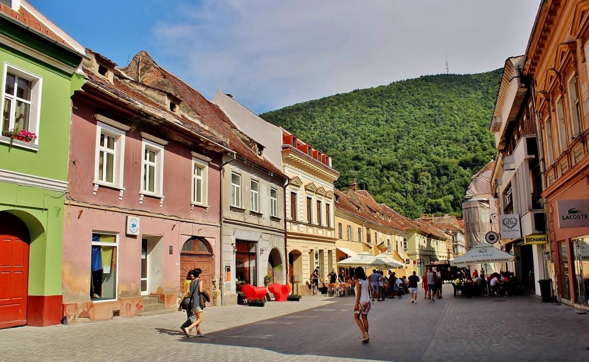 Zdjęcia: Braszów, Siedmiogród, Uliczka w Braszowie, RUMUNIA