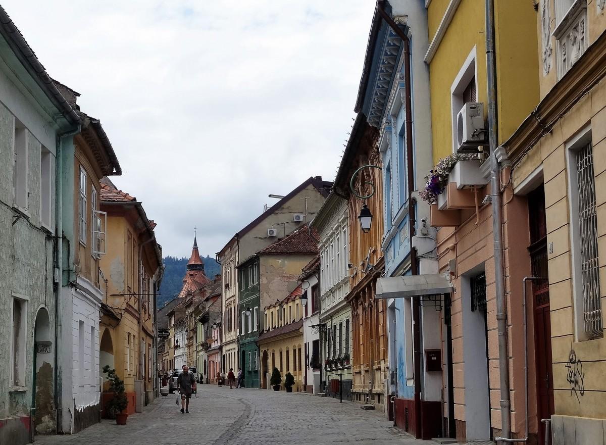 Zdjęcia: Uliczki starego Brasowa, Transylwania, Rumuńskie miasteczka: Brasov, RUMUNIA