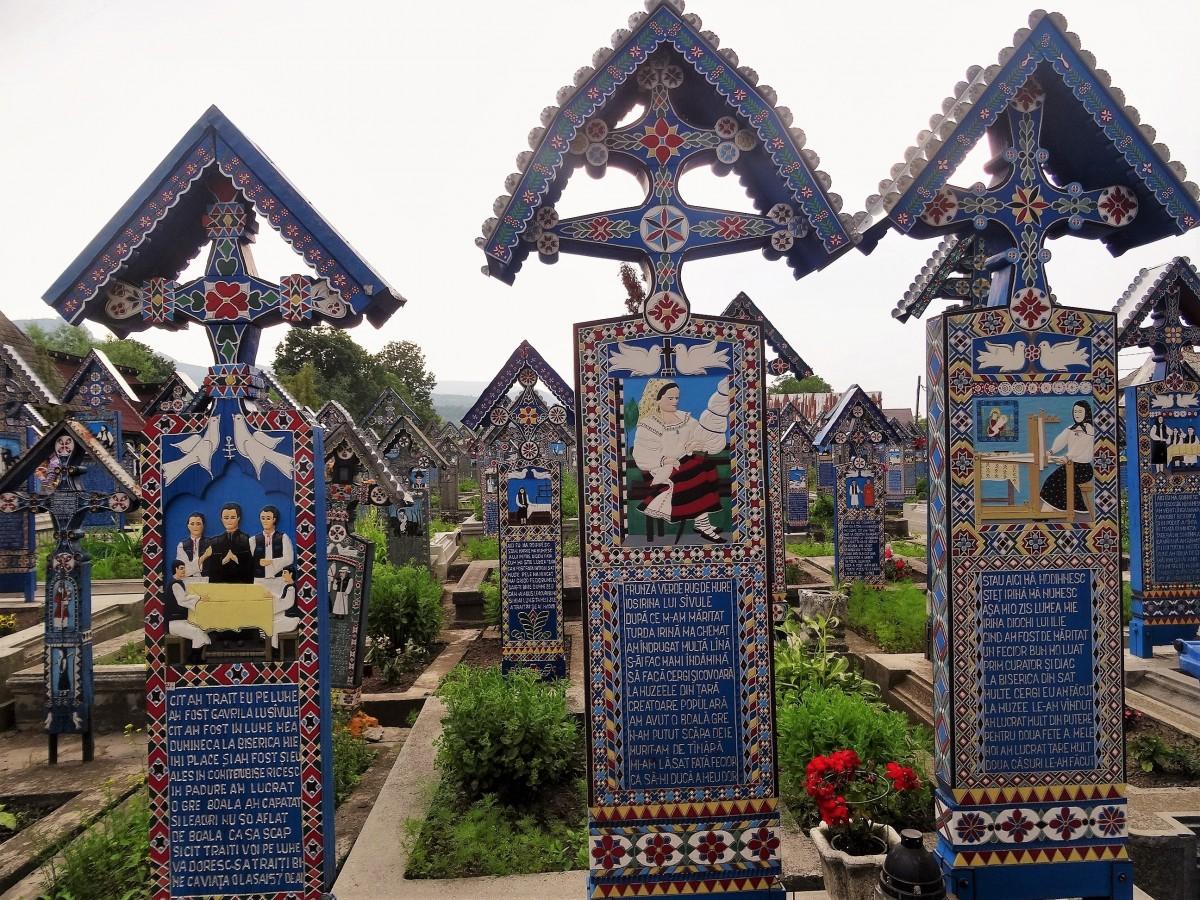 Zdjęcia: Sapanta, Marmarosz, Wesoły cmentarz, RUMUNIA