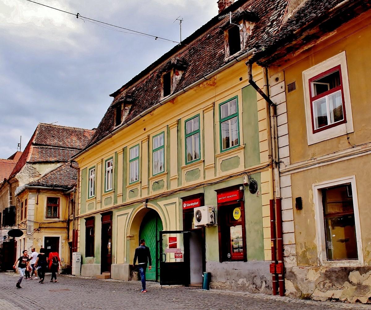 Zdjęcia: Sybin, Siedmiogród, Uliczka w Sybinie, RUMUNIA