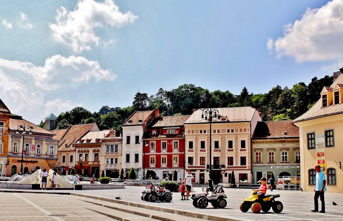 Zdjęcia: Braszów, Siedmiogród, Rynek w Braszowie, RUMUNIA