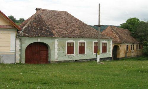 Zdjecie RUMUNIA / Transylwania / Saschiz / Domy siedmigrodzkich Sasów