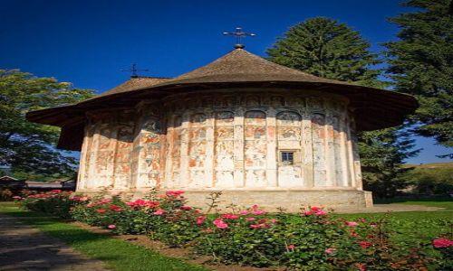 Zdjęcie RUMUNIA / Bukowina / Humorului / Malowana cerkiew w Monastyrze Humorului