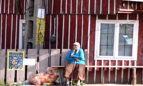 Zdjecie RUMUNIA / Bukowina / wies / konkurs- butelkowa babcia