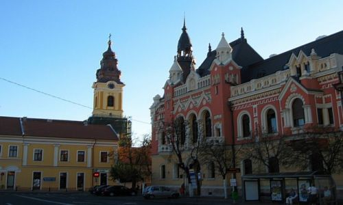 RUMUNIA / Transylwania / Oradea / dekoracyjne kamienice Oradei
