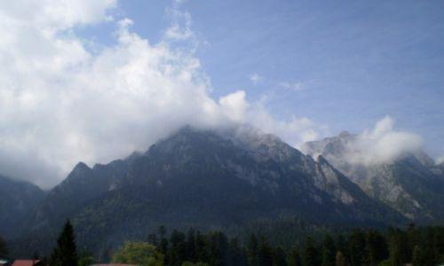 Zdjęcie RUMUNIA / Transylwania / Sinaia / Karpaty we mgle