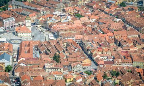 Zdjecie RUMUNIA / Braszów / Braszów / Las czerwonych dachów