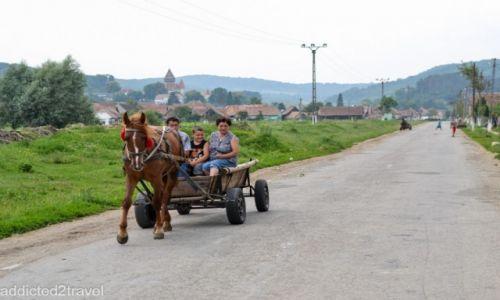 RUMUNIA / Transylwania / Iacobeni / Cygańska wioska