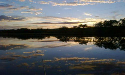 Zdjecie RUMUNIA / Alba Lulia / Vintu de Jos / Zachód nad rzeką Mures