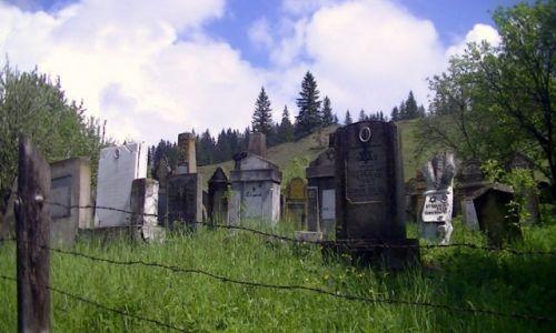 Zdjęcie RUMUNIA / Bukowina / wieś / Cmentarz żydowski