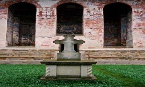 Zdjecie RUMUNIA / Bukowina / Moldovita / w klasztorze w