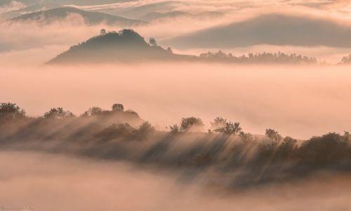 Zdjecie RUMUNIA / Maramuresz / Maramuresz / góry i chmury