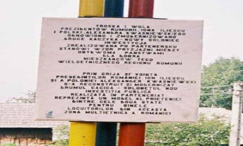 Zdjecie RUMUNIA / Bukowina / Nowy Sołoniec / Pomnik ku czci Aleksandra