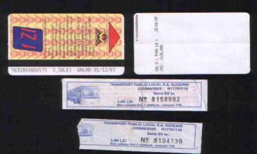 Zdjecie RUMUNIA / brak / Bukareszt, Suczawa / Bilety - komuni