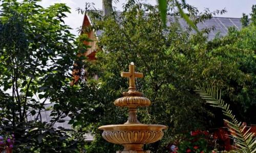 Zdjecie RUMUNIA / Kluż Napoka / Dumbrava / Monastyr Dumbrava - fontanna