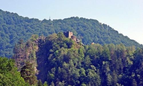Zdjecie RUMUNIA / Góry Fogaraskie / widok znad rzeki Arges / Zamek Poienari