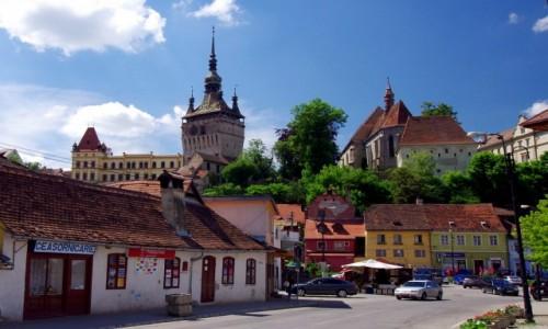 Zdjęcie RUMUNIA / Transylwania / Sighishoara / Widok na Górne Miasto