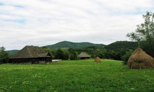Zdjecie RUMUNIA / Marmarosz / Syhot Marmaroski / Siedlisko w dol