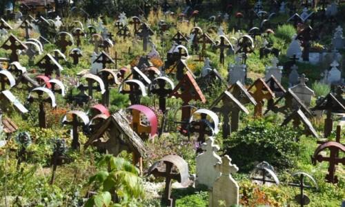 Zdjecie RUMUNIA / Maramuresz / Ieud / Cmentarz na wzgórzu