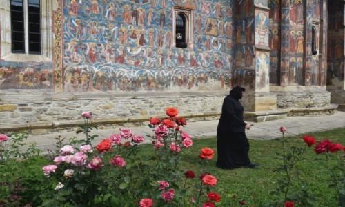 Zdjecie RUMUNIA / Bukowina  / Monastyr Mo�dovita / W klasztorze
