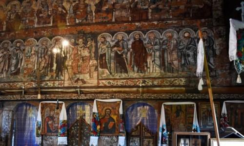 RUMUNIA / Maramuresz / Budesti / Ikonostas w cerkwi �w. Miko�aja