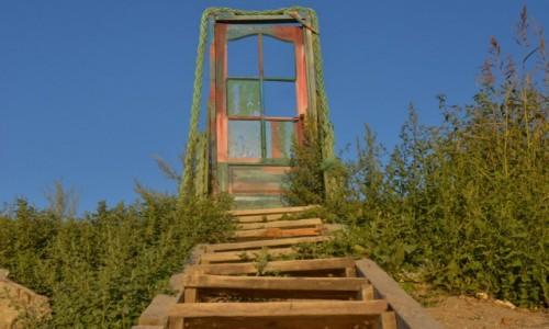 Zdjecie RUMUNIA / nad Morzem Czarnym / Tuż przy granicy z Bułgarią / Stairway (and door) To Heaven