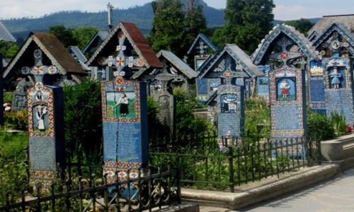 Zdjecie RUMUNIA / Maramuresz / Sapanta / Wesoły cmentarz