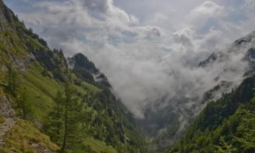 Zdjecie RUMUNIA / Transylwania / Bucegi / Chmury zakrywaj