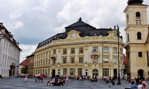 Zdjęcie RUMUNIA / Siedmiogród / Sybin / Piata Mare-rynek