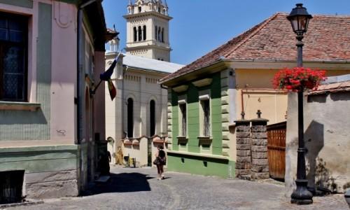 Zdjecie RUMUNIA / Siedmiogród / Sighișoara/Szigiszoara/ / Uliczka Starego Miasta
