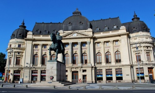 Zdjecie RUMUNIA / Wołoszczyzna / Bukareszt / Biblioteka Uniwersytecka z 1893 roku