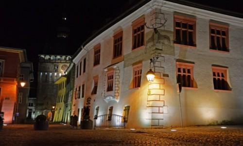 Zdjecie RUMUNIA / Transylwania / Sighișoara / Sighișoara nocą
