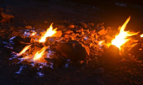 RUMUNIA / Focsani / Andreiasu de Jos / Rezerwat wiecznego ognia