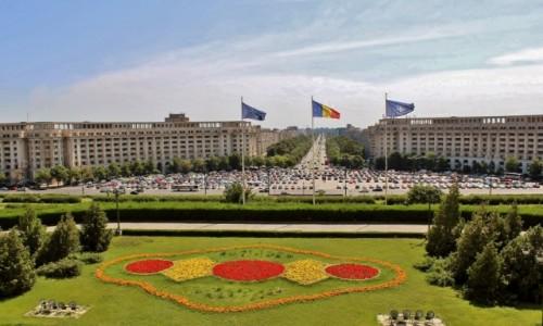 Zdjęcie RUMUNIA / Wołoszczyzna / Bukareszt / Bukareszt-widok z gmachu parlamentu