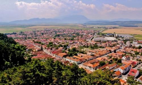 Zdjecie RUMUNIA / Siedmiogród / Râșnov /  Râșnov - widok z zamku