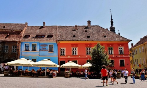 Zdjecie RUMUNIA / Siedmiogród / Sighișoara / Rynek