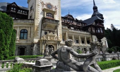 Zdjecie RUMUNIA /  Góry Bucegi / Sinaia / Ogrody pałacu królewskiego Peles