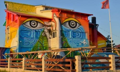 RUMUNIA / Vama Veche / Vama Veche / Mural przez duże